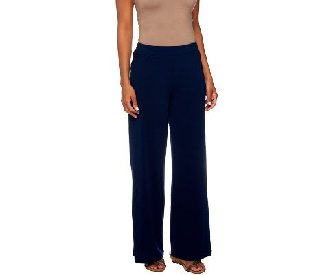 George Simonton Petite Crystal Knit Pull On Palazzo Pants