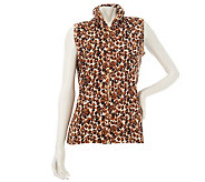 Quacker Factory Quilted Animal Print Vest - A228414
