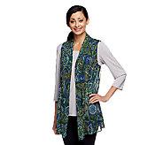 Susan Graver Printed Mesh Cascading Front Vest - A231514