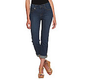 Isaac Mizrahi Live! Icon Grace Crop Denim Jeans - A233214