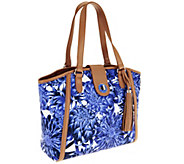 Isaac Mizrahi Live! Bridgehampton Printed Canvas Satchel - A251214