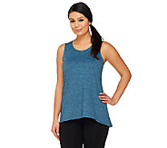 LOGO Lounge by Lori Goldstein Regular Hi-Low Hem Knit Tank - A251914