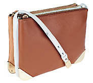 G.I.L.I. Lambskin Leather Triple Compartment Crossbody - A253714