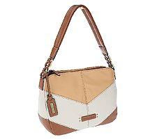Tignanello Glove Leather Color-Block Shoulder Bag