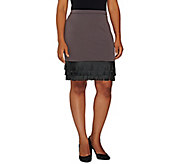 Project Runway by Dmitry Sholokhov Skirt w/ Faux Leather Fringe Detail - A264714