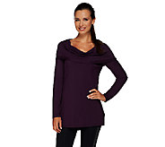 cee bee CHERYL BURKE Hooded Cowl Neck Top - A268614
