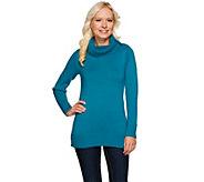 Susan Graver Cotton Acrylic Sweater with Foldover Collar - A271514