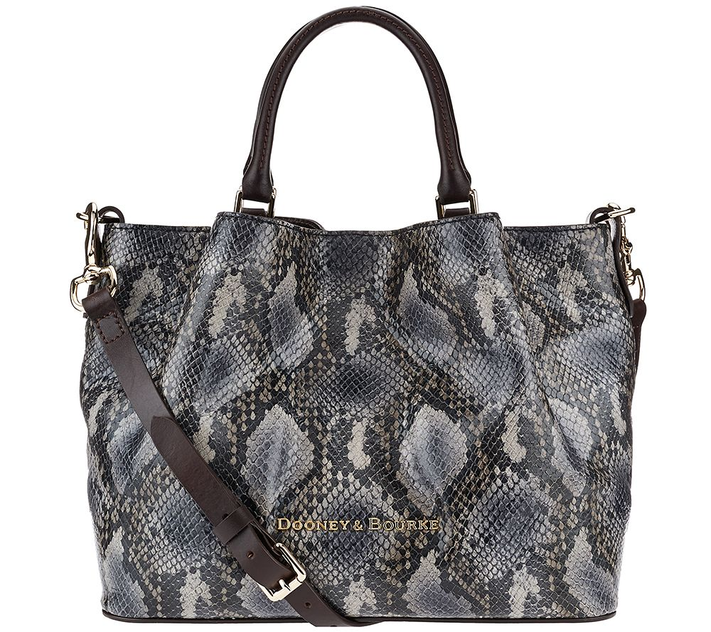 Dooney & Bourke City Python Embossed Leather Barlow Satchel