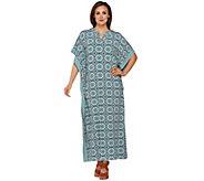 Joan Rivers Kaleidoscope Print Jersey Knit Caftan - A276314