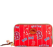 Dooney & Bourke MLB Nylon Red Sox Zip Around Phone Wristlet - A281714