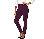 Susan Graver Weekend Stretch Cotton Modal Leggings - A282114