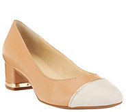 As Is Isaac Mizrahi Live! Cap Toe Leather Pumps - A283514