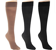 As Is Legacy Sheer Graduated Compression Socks Set of 3 - A286814
