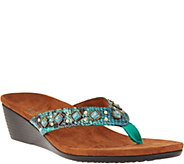 Vionic Orthotic Embellished Wedge Sandals - Marceau - A287714