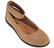 As Is Clarks Collection Nubuck Leather Slip-on Shoes - Medora Nina - A288214