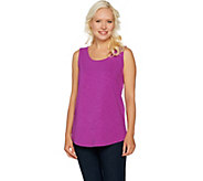 C. Wonder Essentials Tank with Scoop Neck and Shirttail Hem - A289714