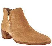 As Is H by Halston Suede and Croco Pony Hair Booties - Lana - A290014