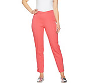 As Is Isaac Mizrahi Live! Regular 24/7 Stretch Ankle Pants w/Pintuck - A300214