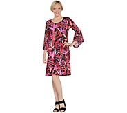 Bob Mackies Tropical Paradise Print Knit Dress - A305614