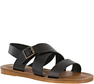 Bella Vita Leather Flat Slingback Sandals - Nic - A356714