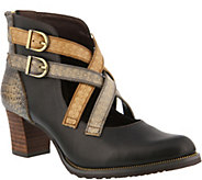 LArtiste by Spring Step Leather Booties- Daniella - A360114