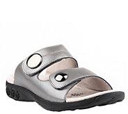 Therafit Leather Adjustable Strap Slip-On Sandals - Eva - A364714