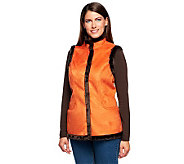 Denim & Co. Faux Suede Snap Front Vest with Faux Fur Trim - A211815