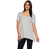 Denim & Co. Perfect Jersey Short Sleeve Scoop Neck Trapeze Top - A214615