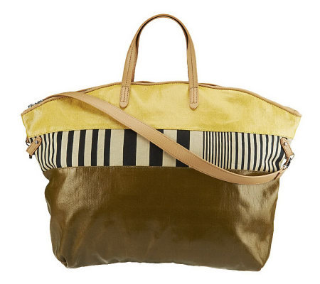 Kelsi Dagger Calloway Coated Canvas Dome Tote with Convt. Straps
