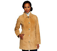 Dennis Basso Washable Suede Turnkey Jacket with Front Pockets - A237615
