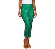 Women with Control Petite Confetti Dot Slim Leg Crop Pants - A252815