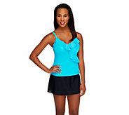 DreamShaper by Miraclesuit Amy Turquoise Ruffle Tankini - A253815