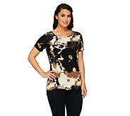 GK George Kotsiopoulos Printed Hi-Low Hem T-Shirt - A256015