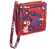 Emma & Sophia Printed Leather Ally Wallet Wristlet - A256315