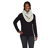 Collection 18 Two-Tone Knit Faux Fur Infinity Scarf - A257315
