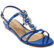 As Is Marc Fisher Jeweled Sandals with Backstrap - Peple - A272015