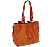 As Is Dooney & Bourke Florentine Leather Large Zip Satchel - A278915