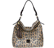 As Is Dooney & Bourke Newbury Leather Sloan Hobo - A279215