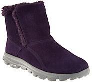 Skechers GOWalk Suede Faux Fur Boots w/ Goga Mat - Dazzling - A280515