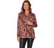 Susan Graver Printed Knit Cardigan and Tank Set - A282915