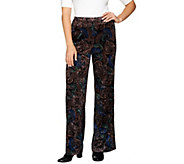 Joan Rivers Petite Length Pull-On Crushed Velvet Pants - A284415