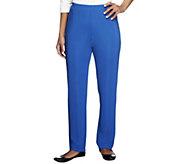 Susan Graver Essentials Lustra Knit Petite Skinny Pants - A285515