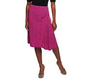 As Is George Simonton Milky Knit Dot Skirt w/ Ruffle Detail - A291415