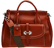 As Is Dooney & Bourke Florentine Toscana Front Pocket Satchel - A292415