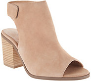 Sole Society Suede Peep-Toe Ankle Booties - Jagger - A294215