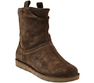 As Is Clarks Unstructured Suede Boots Un.Ashburn - A294815