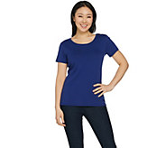 As Is Susan Graver Modern Essentials Stretch Cotton Modal Top - A297815
