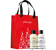 philosophy purity & microdelivery caddy duo with gift bag - A299015
