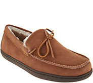 Vionic Orthotic Mens Suede Slippers - Adler - A301115