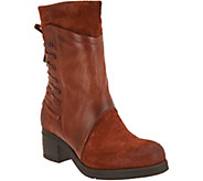 As Is Miz Mooz Leather & Suede Mid Calf Boots- Sakinah - A306215